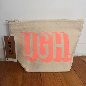 NWT UGH. Cosmetic Bag Cotton On